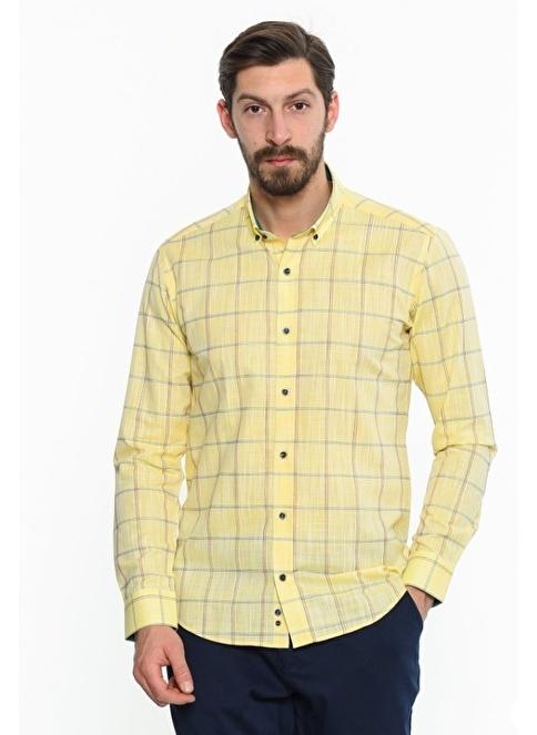 Comienzo Kareli Gömlek Sarı